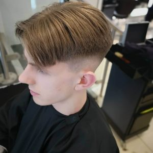 Sharp and Fade Curtain Hairstyle